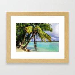 Palm Trees on the Beach Framed Art Print