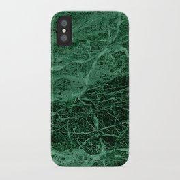 Dark emerald marble texture iPhone Case