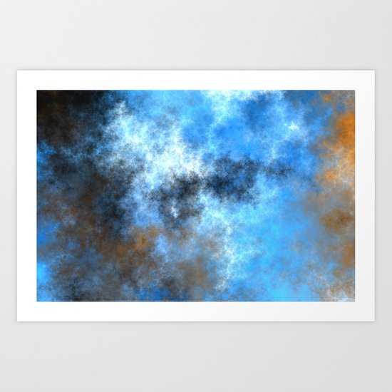 Storm and Lightning   (A7 B0229) Art Print