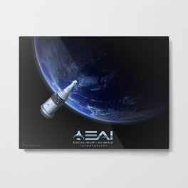 1472. Human Spacecraft being considered for NASA's Commercial Crew Program  Metal Print