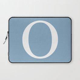 Letter O sign on placid blue background Laptop Sleeve