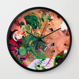 Virtually Surreal Degrees 4D Brick Leaf View No. 2 by Oli Goldsmith Wall Clock