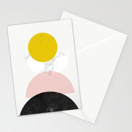 Mid Century géométrie Stationery Cards