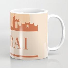 DUBAI UAE CITY SKYLINE EARTH TONES Coffee Mug