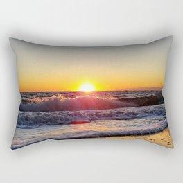 Off-Season Sunset Rectangular Pillow