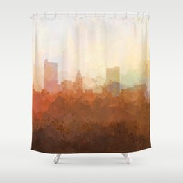 Fort Wayne, Indiana Skyline - In the Clouds Shower Curtain