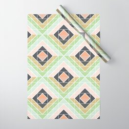 Retro Mod Diamonds Wrapping Paper
