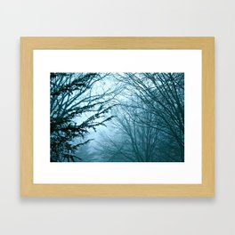 In Blue Framed Art Print