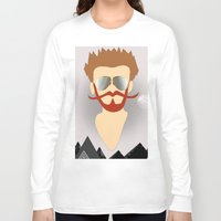 the dude Long Sleeve T-shirts featuring Dude by DM Davis