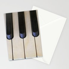 Antique Piano Keys Stationery Cards