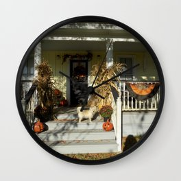 A Country Halloween Wall Clock