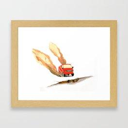 Red Truck  Framed Art Print