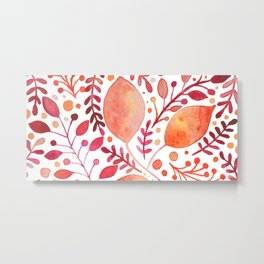 Autumn leaves - orange and red Metal Print