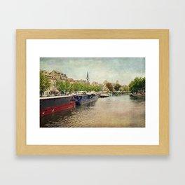 Strasbourg Riverboats Framed Art Print