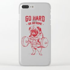 GO HARD OR GO HOME Clear iPhone Case