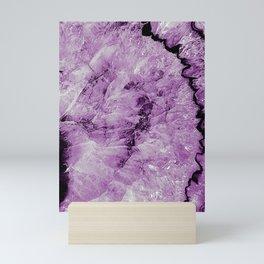 Purple Agate Mini Art Print