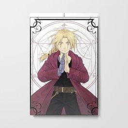 Edward Elric Fullmetal Alchemist Metal Print