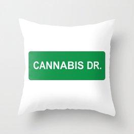 CANNABIS DR Throw Pillow