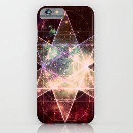 Galaxy Sacred Geometry : Stellated Icoshadron Warmth iPhone Case