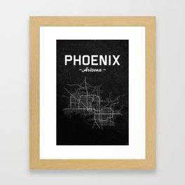 Phoenix, Arizona - b/w Framed Art Print