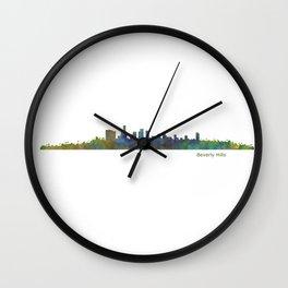 Beverly Hills City in LA City Skyline HQ v1 Wall Clock