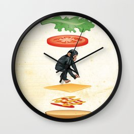 Broodje Aap (Monkey Sandwich) Wall Clock
