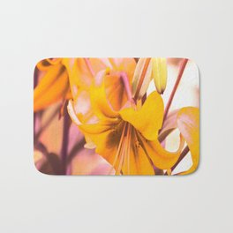 Yellow Lilies In The Garden #decor #society6 #buyart Bath Mat
