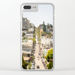 Climbing Hills in San Francisco Clear iPhone Case