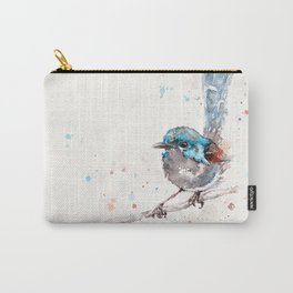 Mischief In The Making (Variegated Fairy Wren) Carry-All Pouch