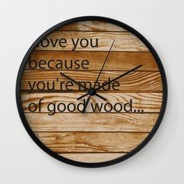Good Wood Wall Clock