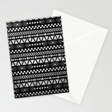 Tribal Print in Black and White Stationery Cards