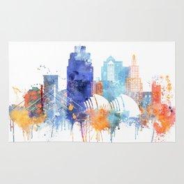 Kansas Watercolor Skyline Rug
