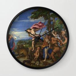 """Titian (Tiziano Vecelli) """"Bacchus and Ariadne"""", 1520-1523 Wall Clock"""