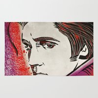 elvis presley Area & Throw Rugs featuring Elvis Presley by Art By Ariel Cruz