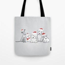 Christmas Dogs Tote Bag