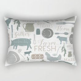 Modern Farmhouse // Gather Round & Give Thanks Rectangular Pillow