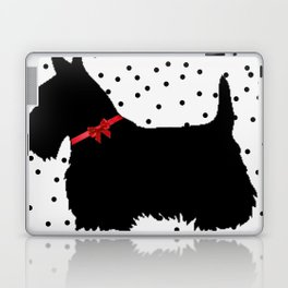 Christmas Scottie Dog Laptop & iPad Skin