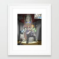 """inside gaming Framed Art Prints featuring """"The Tunt Life"""" Inside Gaming Mini-Poster by isayon85"""