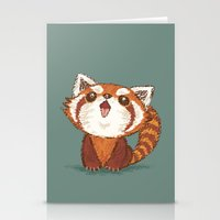 red panda Stationery Cards featuring Red panda by Toru Sanogawa