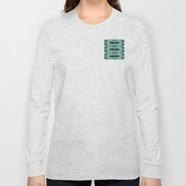 Snowflake in Teals Long Sleeve T-shirt
