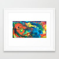 otter Framed Art Prints featuring Otter by Silke Powers