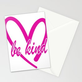 Be Kind pink heart Stationery Cards