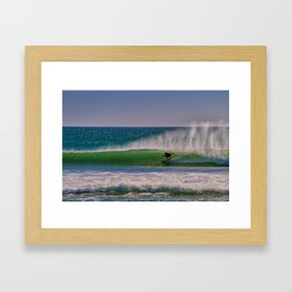 Green Room at the River Jetties Framed Art Print