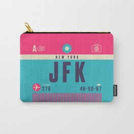 Retro Airline Luggage Tag - JFK New York Carry-All Pouch