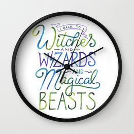 AVPM - Back To Hogwarts Wall Clock