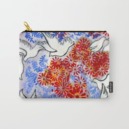 Floral Doves  #society6 #decor #buyart Carry-All Pouch