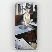 degas iPhone & iPod Skins featuring Degas' Goat Drinking Absinthe  by MollyK