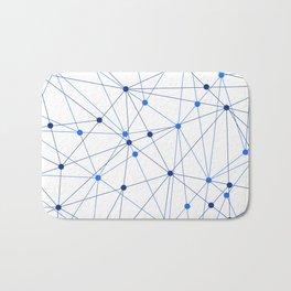 Network background. Connection concept. Bath Mat