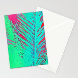 Funky palm leaves Stationery Cards