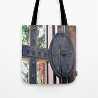 metal gear Tote Bags featuring Metal Gear by Photaugraffiti